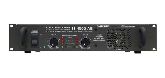 Amplificador Estéreo 2 Canais 1125w W Power 4500 - Ciclotron
