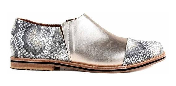 Zapato Mujer Briganti Cuero Abotinado Suela Moda - Mccz33024