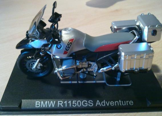 Miniatura Bmw R1150 Gs Adventure C/ Malas - 1:24 Raro Na Cx