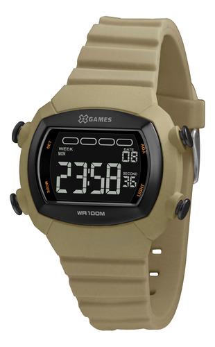 Relógio Masculino Digital Verde Militar X-games Silicone+nf