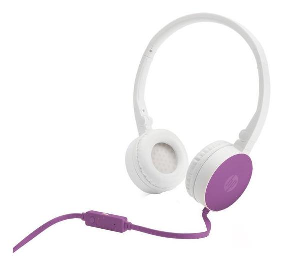 Fone De Ouvido Headset Hp H2800 Dobrável Com Microfone