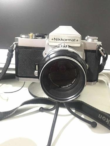Câmera Nikkormat Ft2 + Lente Nikkor 55mm F/3.5 Micro Ótima