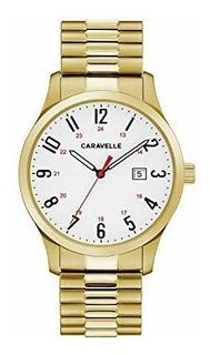 Reloj De Cuarzo Para Hombre De Carabela Con Correa De Acero
