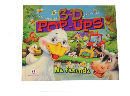 Livro Infantil 3d Popups Na Fazenda