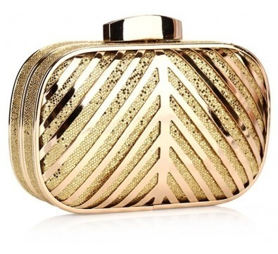 Cartera Clutch Metallicbox, Miscellaneous By Caff