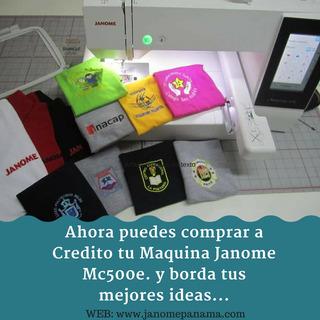 A Credito Maquina De Bordar , Bordadora Janome Mc500e