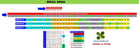 Planilha Mega Sena - 50 Dezenas Com Redução