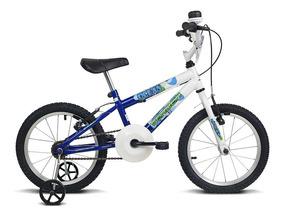 Bicicleta Infantil Aro 16 Ocean Branco E Azul Verden Bikes