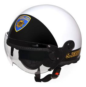 Capacete Kraft Route 66 Sheriff Branco Harley Drag Shadow