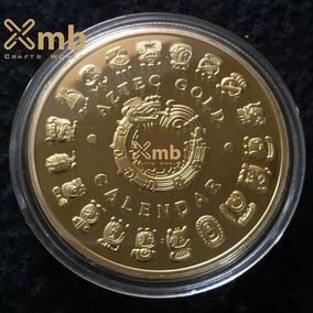 Moeda Comemorativa Aztec Calendar - Dourada