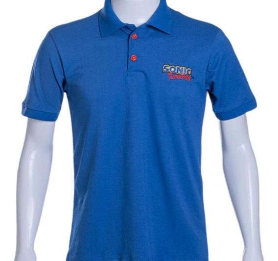 Camisa Polo Sonic The Hedgehog Tectoy Azul Royal 3g