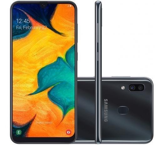 Smartphone Samsung Galaxy A30 64gb Branco E Preto 4g