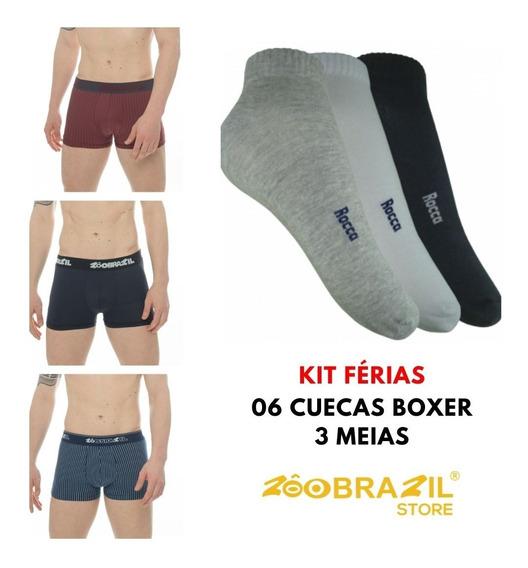 Kit Férias 6 Cuecas + 3 Meias