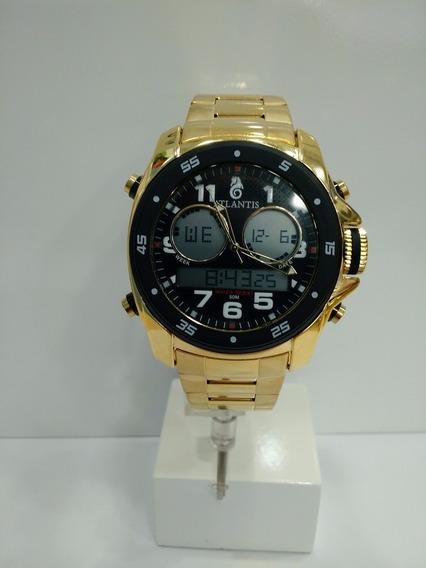 Relógio Original Atlantis Ana Digi G3216 Dourado
