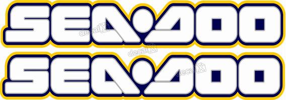 Adesivo Emblema Sea Doo Casco Par Seadoo Amarelo Sd2