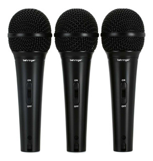 Set de micrófonos Behringer XM1800S dinámico supercardioide negro