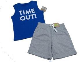 10d0b91769 Conjunto Crazy8 Regata Camiseta Short Bebe Menino Importado