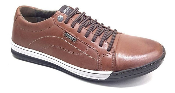 Sapatenis Masculino Freeway Odin 3331 Couro Wax Terracota