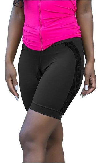 Bermuda Elite Bike Ciclismo Mtb Feminina Preto 119832