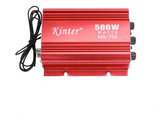 Kinter Ma700 500w 12v 2ch 2 Canais De Áudio Amplificador Usb