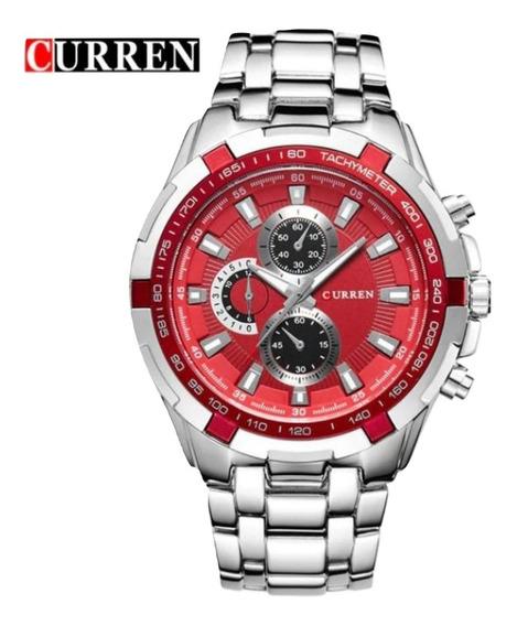 Relógio Curren 8023 Pulseira Aço Inox Prova D