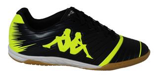Chuteira Futsal Kappa 100% Original Preto/verde + N F
