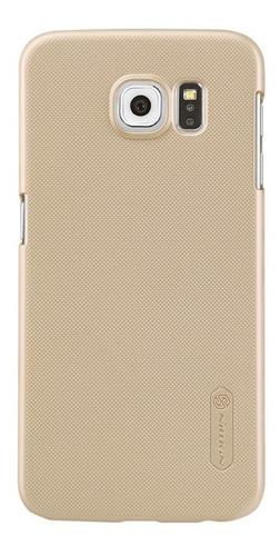 Imagen 1 de 6 de Carcasa Protector Nillkin Frosted Shield Samsung S6, Dorado