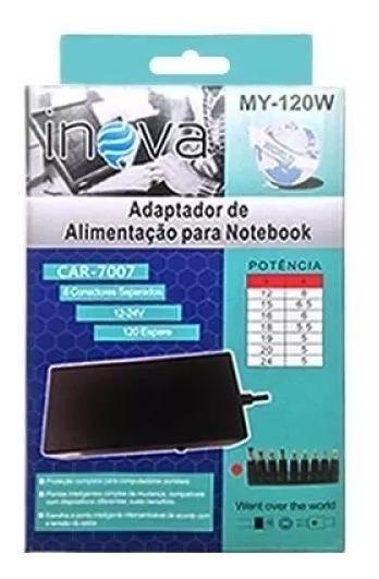 Kit 4carregador Notebook Universal Car-7007 My-120w Atacado