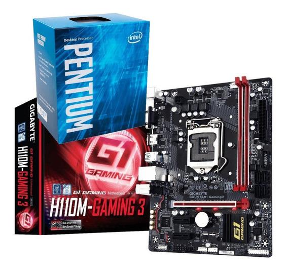 Kit Processador Pentium G4560 Gigabyte H110m Gaming 3