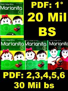 Libro Marianita Caligrafía 1, 2, 3, 4, 5, 6 . Pdf E Impreso.