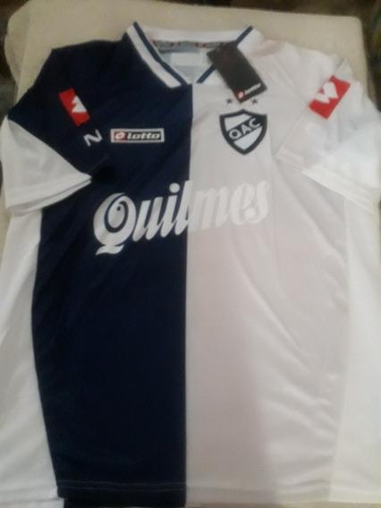 Camiseta Alternativa De Quilmes Azul /gris