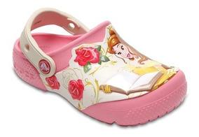 Sandália Crocs Infantil Fun Lab Princess Belle Peony Pink