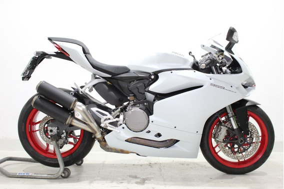 Ducati Superbike 959 Panigale 2017 Branca - Baixo Km