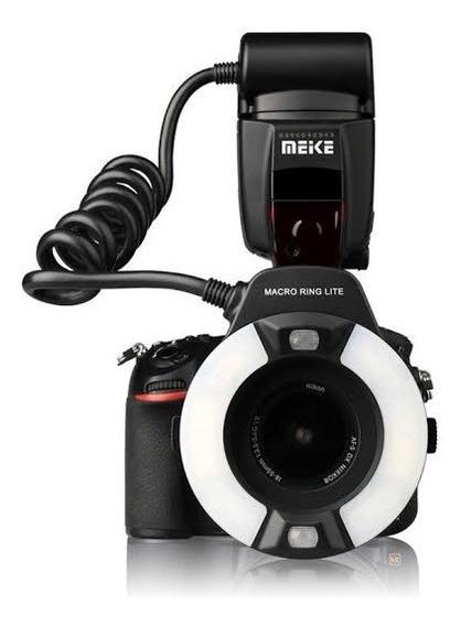 Flash Circular P/ Nikon Meike Mk-14ext Macro Ring Flash