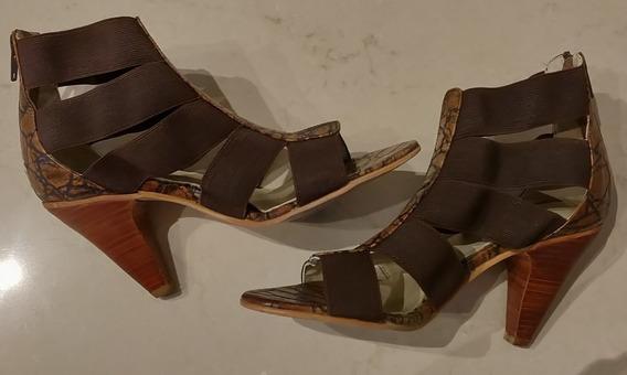 Zapatos Sandalias Mujer Blaque Usadas Talle 35 Impecables
