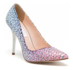 Zapatos Zapatillas Andrea Azules Fiusha Moradas Con Textura