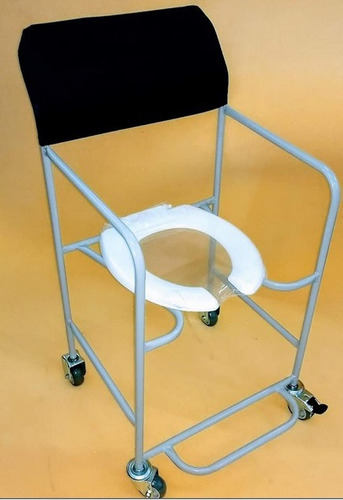 Cadeira De Banho E Higienica Em Pintura Epóxi Cinza