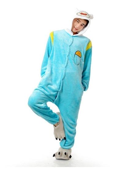 Finn Pijama Polar Mameluco Hombre Unisex Disfraz