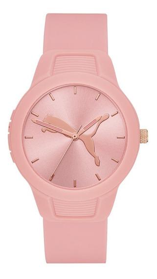 Reloj Dama Puma Reset V2 P1023 Color Rosa Claro Poliuretano