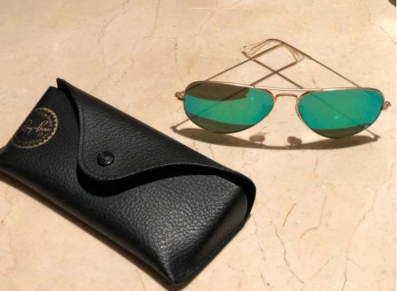 Gafas Ray-ban Aviator Originales Con Estuche Y Paño