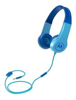 Audífonos Para Niños Con Cable Motorola Squads 200 - Celeste