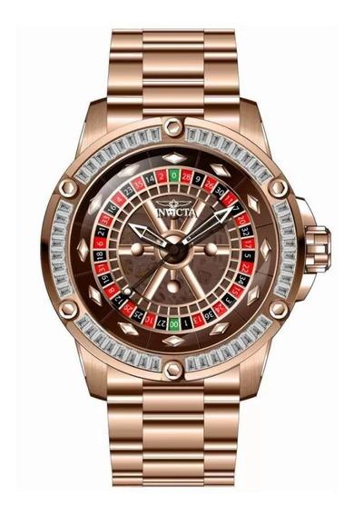 Relógio Invicta 28714 Ouro Rosê 24k Cassino Sspeciality