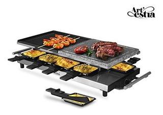 Artestia 10 Personas Gran Parrilla De Raclette Electrica De
