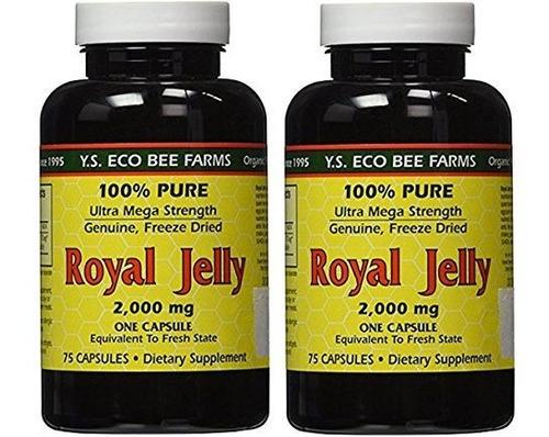 Jalea Real Royal Jelly 2000 Mg Ys Eco Bee Farms 75 Cápsulas