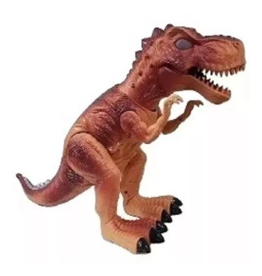 Dinossauro Rex Com Luz Som E Solta Fumaça A Pilha