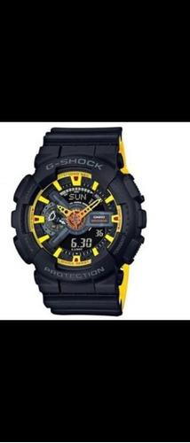 Relógio Original Casio G-shok Ga 110 Pulse Azul E Amarelo