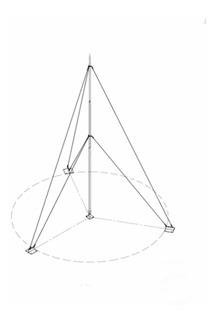 Kit Mastil Telescópico 15 Mts Con Accesorios De Instalación