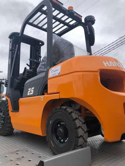 Autoelevador Hangcha 2.5tn -diesel -altura 4.5m Rep.oficial