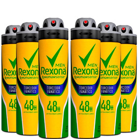 Kit 6 Desodorante Antitranspirante Rexona Torcedor Fan 150ml