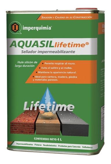 Impermeabilizante Y Sellador Imperquimia Para Superficies Porosas Aquasil Lifetime En Bote De 4 Lts